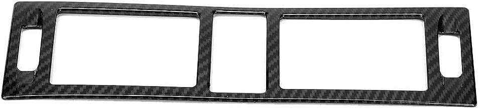 Central Control Outlet Cover,Carbon Fiber Style Center Control Outlet Air Vent Frame Trim Fits for Mercedes Benz C Class W204 2007-2010