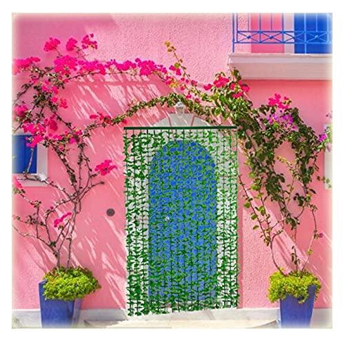 WXQIANG Cortinas de la tira de las hojas, Divisor de decoración de la sala de la cortina de la hoja verde artificial para balcones Wall Garden Pergola, fácil de instalar Decoración de interiores, deco