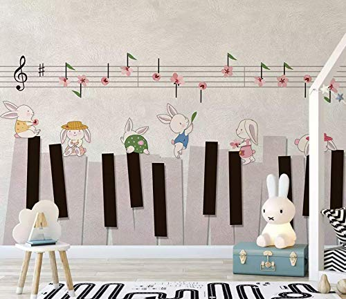 Amazon.com: Murwall Kids Wallpaper Cartoon Piano Wall Mural Music Notes Wall Art Nursery Wall Decor Childroom Baby Room Play Room: Handmade
