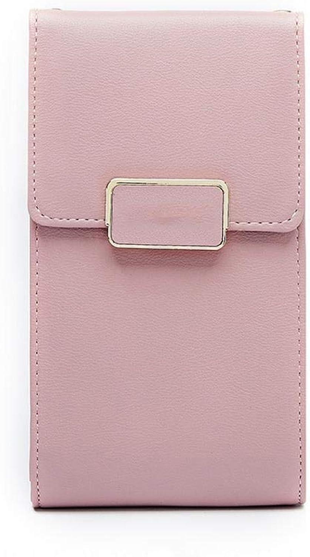 Girls Purse Women's Wallet,Diagonal Cross Mobile Phone Bag Multifunctional Lady Purse PU Leather (color   F)
