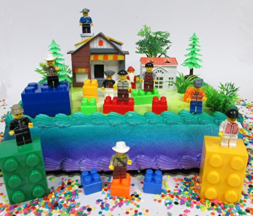 Brick Masters Block Builders Birthday Cake Topper Set Featuring...