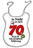 die stadtmeister Latz für Erwachsene EIN Franke ist Nicht 70 - er ist 18 mit 52 Jahren Erfahrung
