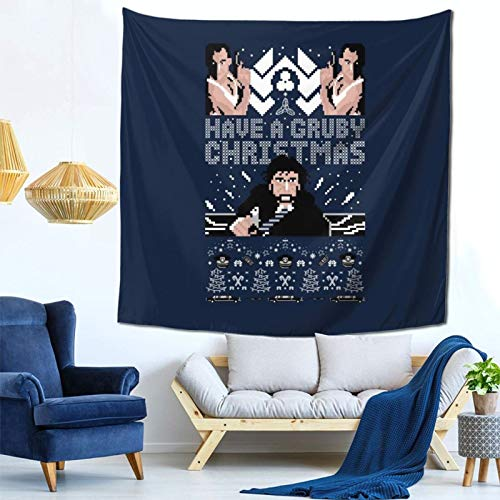 1033 Gruber Christmas Die Hard Knit Wall Hanging Tapestry for Living Room and Bedroom Spreads Good Vibes 59×59 Inches