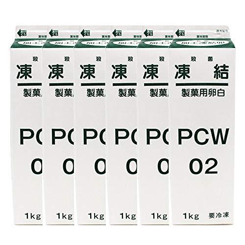 【まとめ買い】凍結製菓用卵白(殺菌) PCW-02 イフジ産業 1kgx6