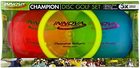 Innova Champion Disc Golf Set – Driver, Mid-Range & Putter, 150 Grams Each, Colors May Vary (3 Pack)
