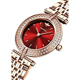 Swiss Quartz Movement Women's Watches Rose Gold Diamond Bezel Thin Ultra Slim Sapphire Crystal Elegant Ladies Watches OUPINKE