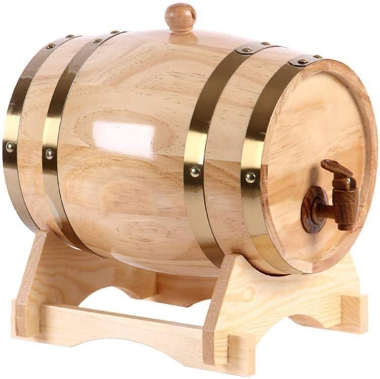 Decantador De Vino Barril De Vino En Roble, Roble Antiguo 1,5/05.03.10 litros Hecho A Mano con Un Barril para Cerveza, Vino, Cerveza, Whisky, Puerto