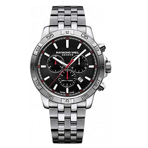 Raymond Weil Men's Tango Quartz Diving Watch with Stainless-Steel Strap, Silver, 20 (Model: 8560-ST2-20001)