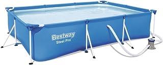 Bestway 8321265 Piscina Rectangular con Depuradora 300x200x66 cm, Azul