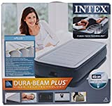 Intex 64412 Luftbett Comfort Plush Elevated Airbed Kit Twin, 230 V inklusive eingebauter Luftpumpe, 99 x 191 x 46 cm