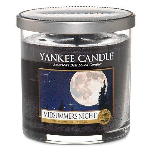 Yankee Candle vela de pilar pequeña, Noche de verano, negro