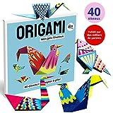 Origami, Jeux educatif Fille & Garcon, Activité Manuelle Enfant & Adulte, Loisir Créatif de Pliage Papier Facile | 40 oiseaux origami magnifiquement illustrées