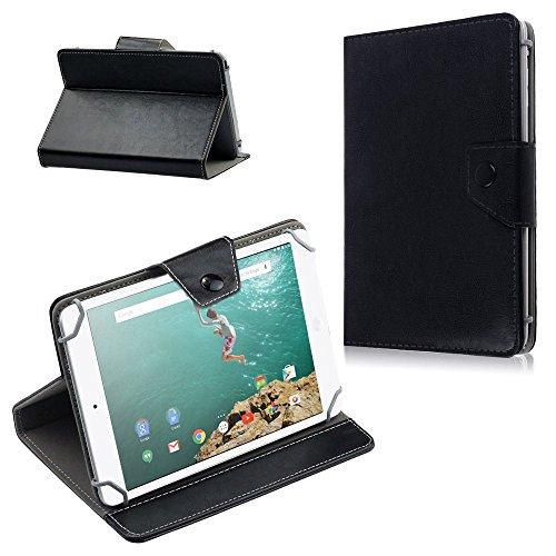 Schutz Hülle für HTC Google Nexus 9 Tasche Hülle Tablet Cover Farbwahl Etui Bag, Farben:Schwarz