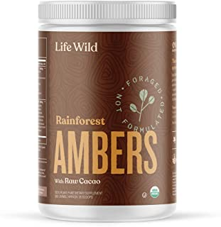 Life Wild Rainforest Ambers Nutritional Supplement | USDA Organic Plant-Based Powder Drink w/Real Mushrooms, Cacao & Chai ...