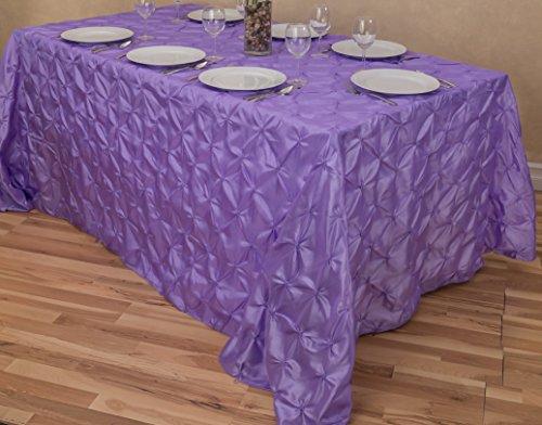"LinenTablecloth Rectangular Pinwheel Tablecloth, Lavender, 90"" x 132"""