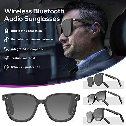 Chowaway Drahtlose Bluetooth Audio Sonnenbrille, Bluetooth Sonnenbrille, Music Bone Conduction Brille IP67 wasserdichte Smart Ear Brille mit offenem Ohr für Männer Frauen Outdoor Sport