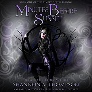 Minutes Before Sunset audiobook cover art