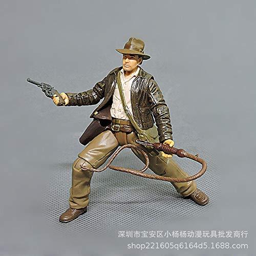 1 stks 7.5 cm Cartoon anime Indiana Jones Actiefiguren Poppen kinderen PVC onderwijs model voor collectie speelgoed d11-B-stijlen 7,5 cm