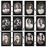KUUQA 6 Pack Halloween Horror Portrait Decorations Spooky Photo Frame 3D Changing Face Scary Picture Frame Haunted Wall Decoration for Home, Halloween Party Decor