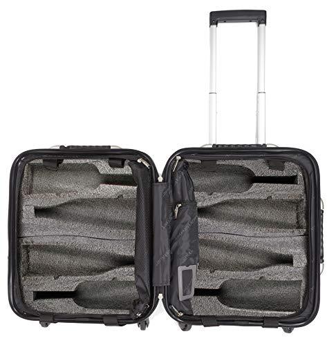 VinGardeValise - Up to 8 Bottles & All Purpose Wine Travel Suitcase (Black)