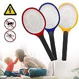 Hengda Raquette Anti-moustiques électrique, 3 Couches Protection en Maille,...