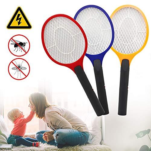 Hengda Eléctrico Mosquito Mosca Loco Matamoscas Zapper, Lote de 3 Raqueta matamosquitos, Exterminadora Anti-Insectos