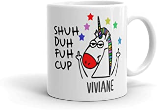 Shuh Duh Fuh Cup Unicorn, Shark, Owl, Mugs Funny 11oz, Personalized Coffee Mugs with Name FREE CUSTOMIZATION-Christmas Gifts, Birthday Gifts, Party Favors (Unicorn)