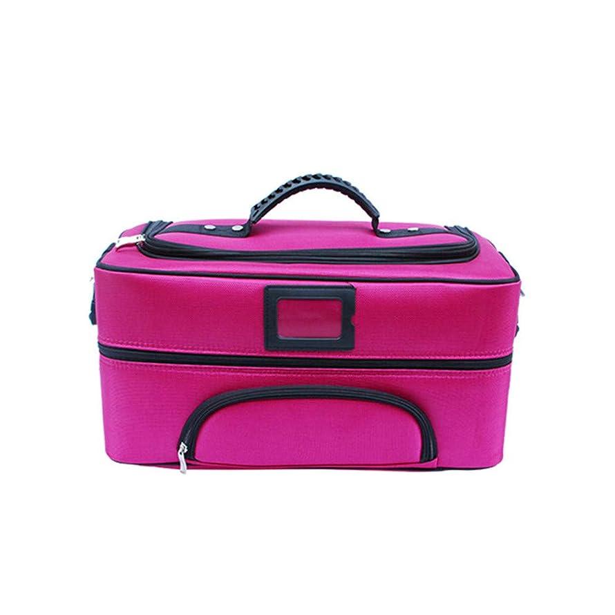 ピッチャーボリューム式化粧オーガナイザーバッグ ジッパーで旅行と毎日のストレージのための美容メイクアップのポータブルカジュアルメイク化粧品収納ケース 化粧品ケース