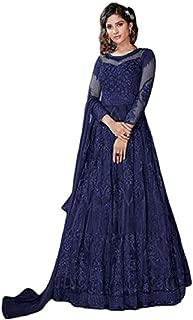 FENNY CREATION Women's Net Long Anarkali Salwar Suit/Gown With Dupatta