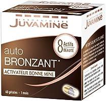 JUVAMINE - Bronzage Sublime Autobronzant Activateur Bonne Mine - 8 Actifs Beauté - 60 Gélules