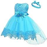thematys Festliches Taufkleid Baby Mädchen Prinzessin Kleid - Kostüm-Set perfekt für Karneval,...