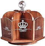 Fashio Rotación de Caja de 360 Grados cosmético del almacenaje, Cosméticos de Madera Organizador, Boda práctica Regalo for mi Novia, Regalo de cumpleaños (Size : A)