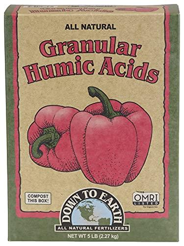 Down to Earth Organic Granular Humic Acids Fertilizer Mix, 5 lb