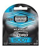 Wilkinson Sword Hydro BODY - Recambio de Cuchillas para Afeitadora Corporal Hombres con 5 Hojas Bidireccionales para una Depilación del Cuerpo en Ambos Sentidos , Pack 3 Unidades