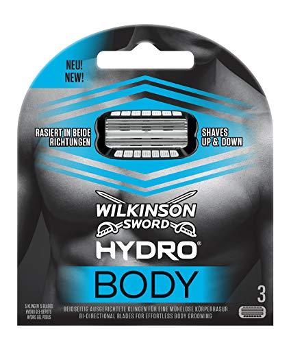 Wilkinson Sword Hydro Body Rasierklingen für Herren Rasierer, 3 Stück