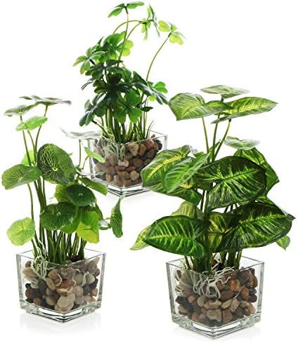 Best MyGift Artificial Potted Plant With Flowers for Home