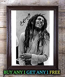 Bob Marley Autographed Signed Reprint 8x10 Photo #41 Special Unique Gifts Ideas for Him Her Best Friends Birthday Christmas Xmas Valentines Anniversary Fathers Mothers Day