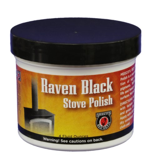MEECO'S RED DEVIL 402 Stove Paste, Black