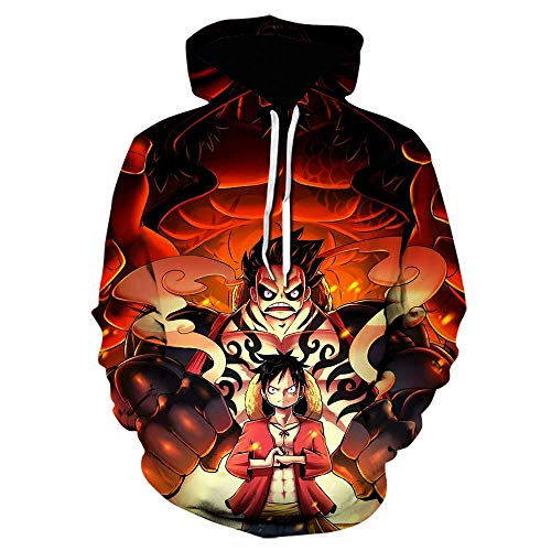 One Piece Men Women Hoodies, 3D Print Long Sleeve Pullover Sweatshirts Lightweight Drawstring-5XL_WE-1793