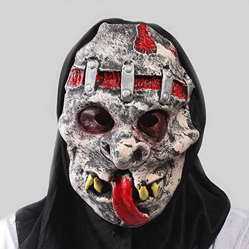 HMHH Maschera di Halloween Maschera in Lattice Mascherata Testa Diavolo Horror Killer Cosplay Cotume Uomo Masquerade Maschera per Adulti