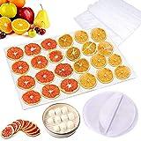 8 Stks Niet Stick Siliconen Dehydrator Sheet,Non Stick Voedseldroger Vellen Silicone, Fruit Droger Mesh voor Fruitdroger/Silicone Stoomnet/Pads