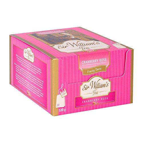 SIR WILLIAM`S CRANBERRY ROSE 50 Stk. Teebeutel; Beuteltee im Bag