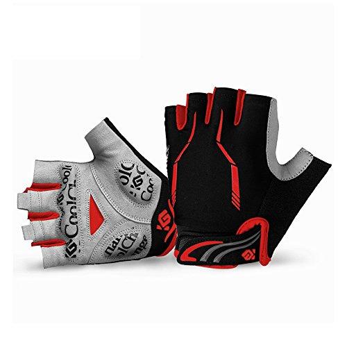 Cool Change Cycling Gloves Mountain Bike Gloves SBR Padded Shockproof | Anti- Slip | Breathable Gloves Half Finger Bicycle Gloves for Men Women