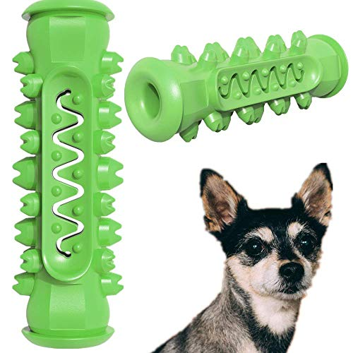 ZHEBU Dog Chew Toys Puppy Teething Toys for Small Medium Dog Dental Care Toothbrush for Small Breeds Indestructible Dog Teeth Cleaning Toys (Greenery)