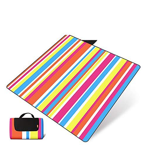 LSZ Mat Pique-Nique étanche à l'humidité Tapis d'extérieur Plage Pliant Portable Pique-Nique Pique-Nique Tapis de pelouse Pique-Nique en Tissu épais imperméable Couverture de Pique-Nique (Color : B)