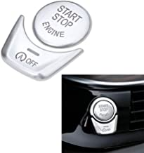 DEMILLO Silver Start Stop Engine Switch Button Cover for BMW 5 6 7 X 3 X4 Series F Chassis F10 F18 F07 F12 F01 F02 F25 F26