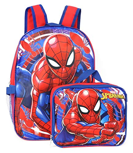 Product Image 1: Spiderman Marvel 16″ Backpack with Detachable Lunch Box