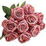 CIELLTE Bouquet Artificiel de Rose Faux Roses Fleur Décoration de Fête de Mariage Bouquet De Mariée Décor De Hortensia De Mariée