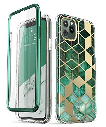 i-Blason iPhone 11 Pro Max Hülle Glitzer Handyhülle 360 Grad Case Bling Schutzhülle Bumper Cover [Cosmo] mit integriertem Displayschutz 6.5 Zoll 2019 Ausgabe (Grün)