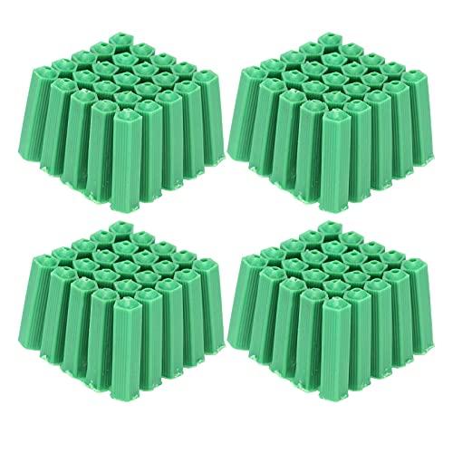 100 piezas M6 tubo de expansión de plástico tubo de expansión accesorio de enchufe de pared accesorio de tubo de expansión verde